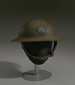 images for Combat helmet from World War I used by the 93rd Infantry Division-thumbnail 1