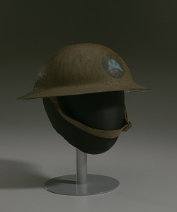 images for Combat helmet from World War I used by the 93rd Infantry Division-thumbnail 9