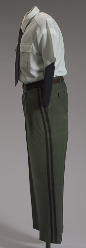 Image for US Army green service uniform pants worn by Colin L. Powell