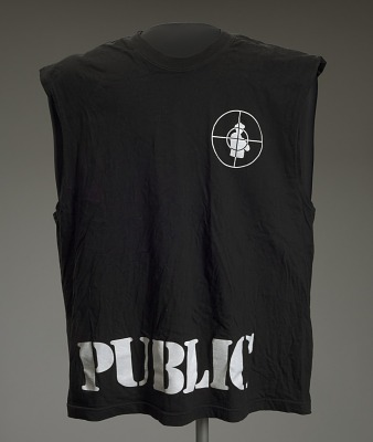 Sleeveless T-shirt with Pubilc Enemy logo