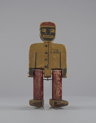 Walking toy in the form of a caricatured porter