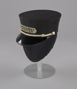 images for Uniform cap worn by Pullman Porter Philip Henry Logan-thumbnail 2