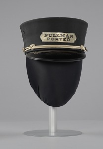images for Uniform cap worn by Pullman Porter Philip Henry Logan-thumbnail 3