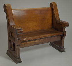 Pew from the Quinn Chapel African Methodist Episcopal Church
