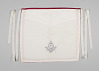 Thumbnail for White canvas Masonic apron owned by H.C. Anderson