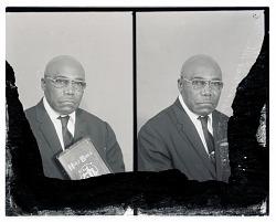 Studio Portrait of a Man With Bible, Studio Portrait of a Man Sitting, Diptych