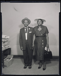 Studio Portrait of a Couple Standing