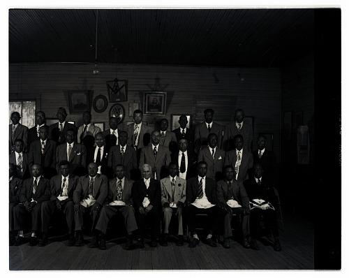 Image for Indoor Group Shot of Men, Masons