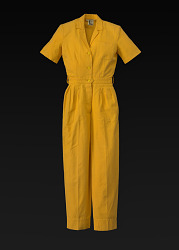Yellow jumpsuit designed by Willi Smith