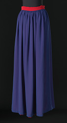 Dark blue maxi skirt designed by Arthur McGee
