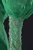 Thumbnail for Green dress with silver details and attached necklace designed by Peter Davy