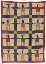 Black Uncle Sam pieced miniature quilt