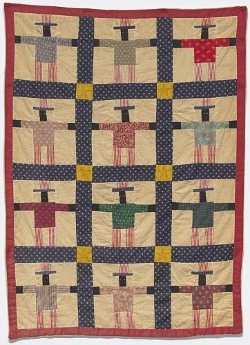 Image for Black Uncle Sam pieced miniature quilt