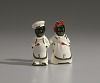 Thumbnail for Pair of salt and pepper shakers in form of