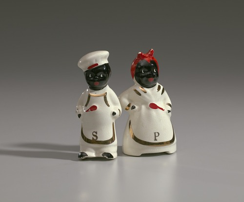 Image for Pair of salt and pepper shakers in form of