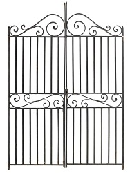 Wrought iron gate created by Philip Simmons
