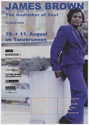Broadside for a James Brown concert in Cologne at the Blue Moon Jazz Festival