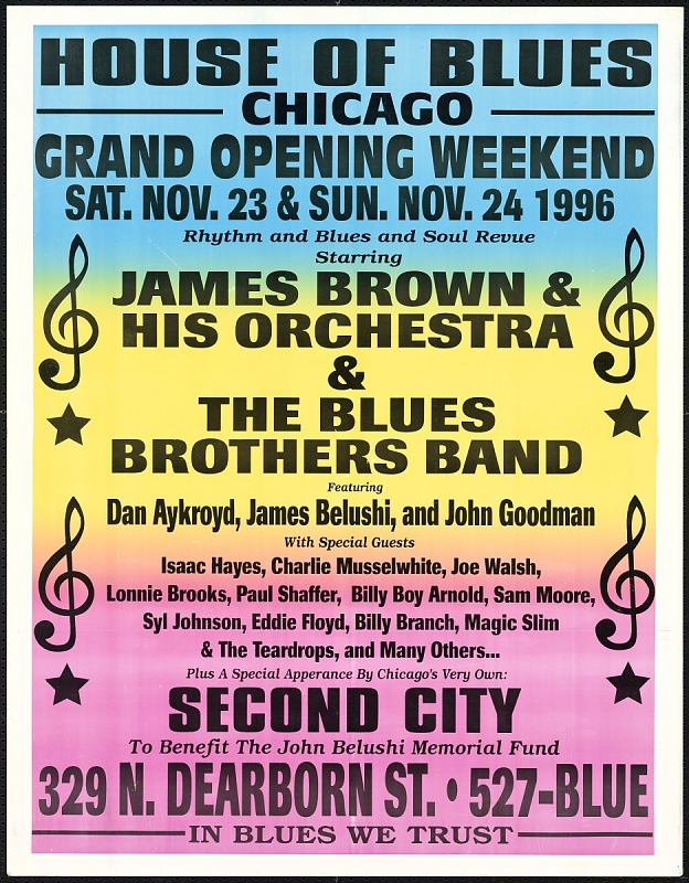 Image for Broadside for the House of Blues featuring a concert by James Brown and others