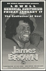 Broadside for a James Brown concert at Lowell Memorial Auditorium