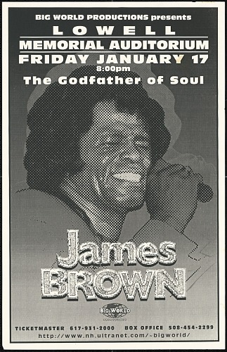 Image for Broadside for a James Brown concert at Lowell Memorial Auditorium