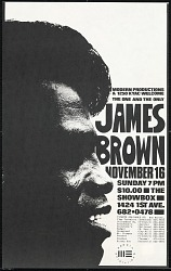 Broadside for a James Brown concert at The Showbox
