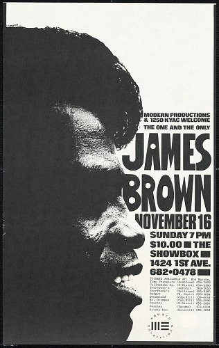 Image for Broadside for a James Brown concert at The Showbox