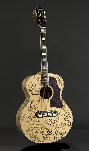 Image for Signed guitar and case owned by James Brown