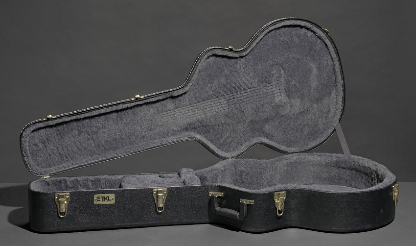 Signed guitar and case owned by James Brown