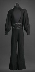 "Black ""Sex"" jumpsuit owned by James Brown"