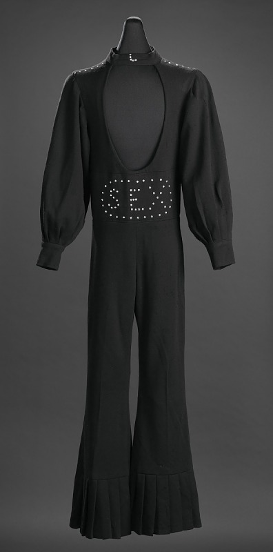"""Image 1 for Black """"Sex"""" jumpsuit owned by James Brown"""