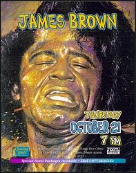 Broadside for a James Brown concert at Soaring Eagle Casino and Resort