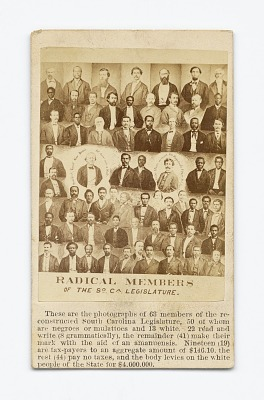 <I>Radical Members of the South Carolina Legislature</I>