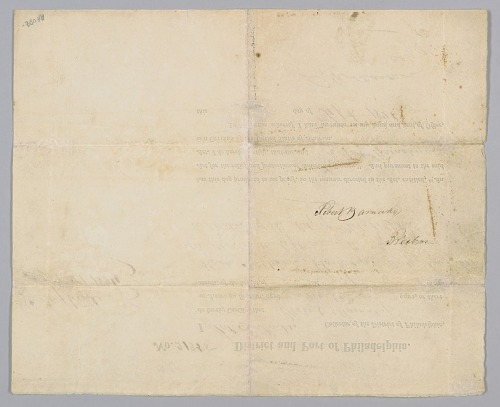 Image for Seaman's Protection Certificate for Robert Barnaby