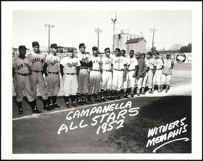 <I>Hank Thompson, Suitcase Simpson, Larry Doby, Roy Campanella, George Crowe, Monte Irvin, New York Cubans.</I>