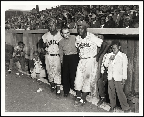 Image for Ernie Banks, Larry Doby, Matty Brescia, Jackie Robinson, Martin's Stadium, Memphis, TN