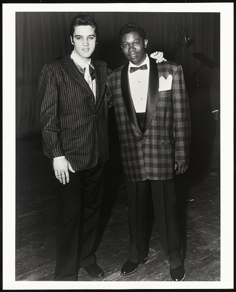Image 1 for The Two Kings, Elvis Presley with B.B. King at WDIA Goodwill Review, Memphis, TN