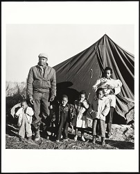 """Tent City"" family, Fayette County, TN"
