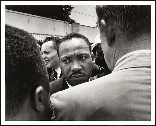 Image for Dr. Martin Luther King, Jr. is stopped by police at Medgar Evers' funeral, Jackson, MS
