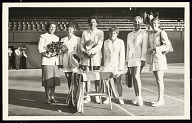 Photograph of Althea Gibson with Wightman Cup team