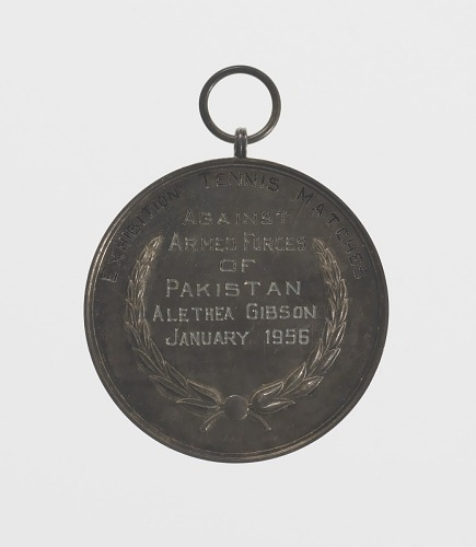 Image for Medal given to Althea Gibson by the Armed Forces of Pakistan