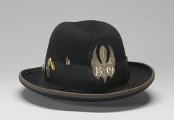 Felt hat with medallion worn by Bo Diddley