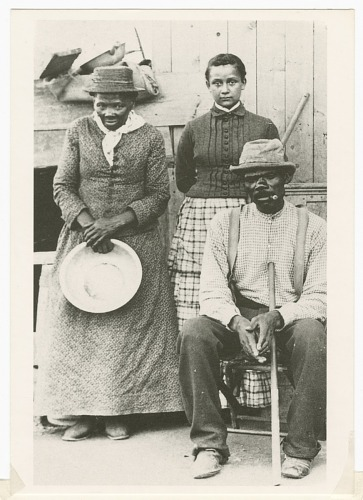 Image for Postcard of Harriet Tubman, Nelson Davis, and daughter Gertie