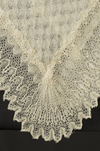 Image for Silk lace and linen shawl given to Harriet Tubman by Queen Victoria
