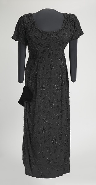 Image 1 for Black beaded dress designed by Zelda Wynn and worn by Ella Fitzgerald