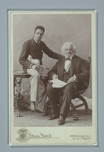 Image for Cabinet card of Frederick Douglass with his grandson, Joseph Douglass