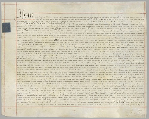 Image for Deed of sale including 237 enslaved persons in transaction