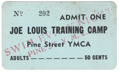 Image for Admission ticket for Joe Louis Training Camp, St. Louis, Missouri