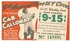 Thumbnail for Transit pass for St. Louis Public Service Company depicting Cab Calloway