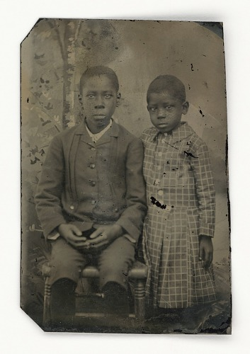 Image for Tintype of two children