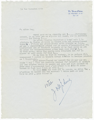 Letter to Margaret Martin Wallace (